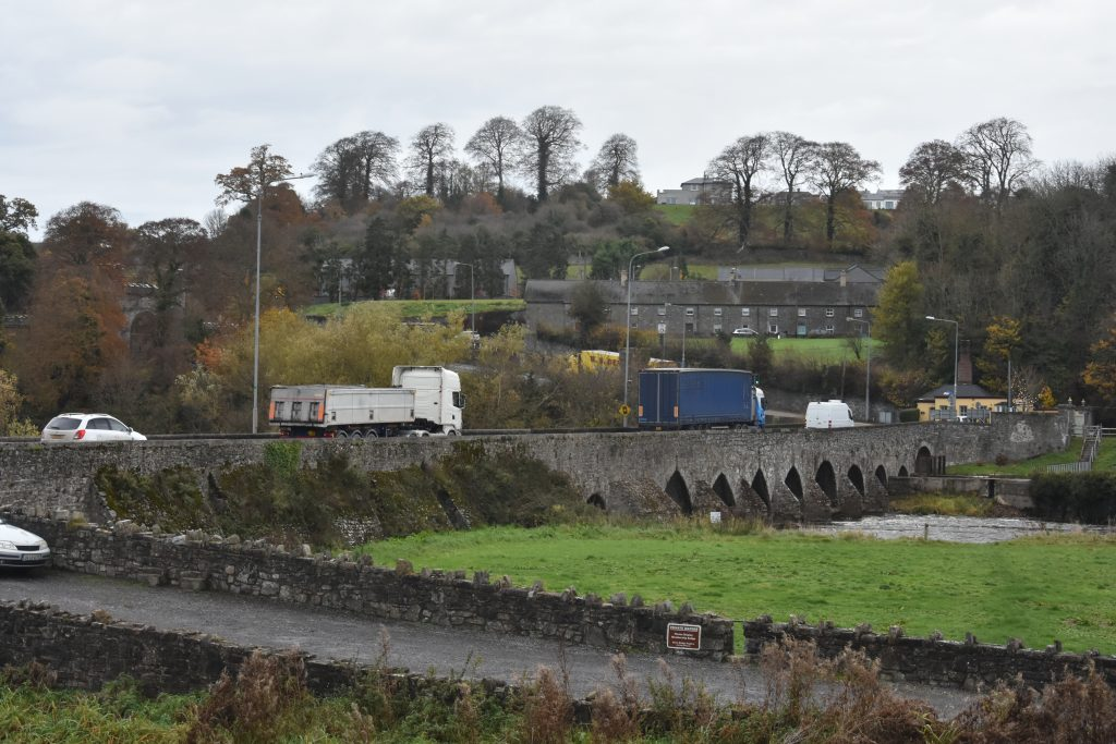 Traffic Enters Slane from the Southern (Dublin) Side of the River