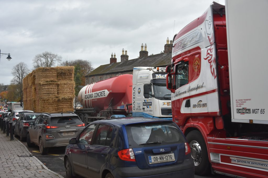 Heavy Traffic through Slane Village seriously compromise the Village Environment